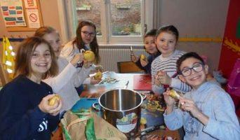 Atelier cuisine : la soupe butternut, pommes de terre et poireaux